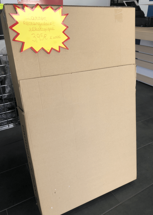 carton rectangulaire télescopique déménagement
