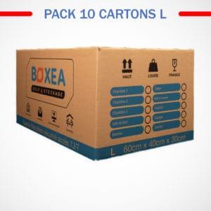 pack 10 cartons large déménagement