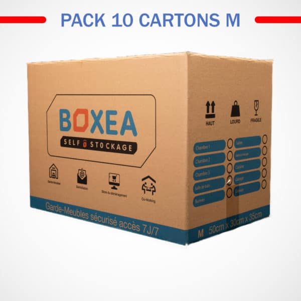 pack 10 cartons medium déménagement