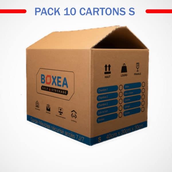 pack 10 cartons small déménagement