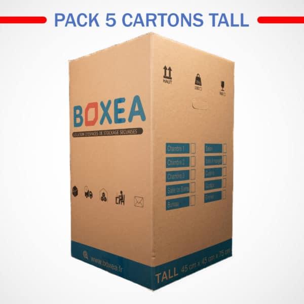 pack 5 cartons tall déménagement