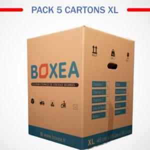 pack 5 cartons extra large déménagement
