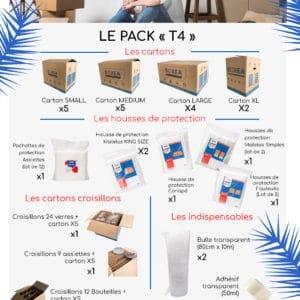 pack déménagement T4 F4 maison appartement