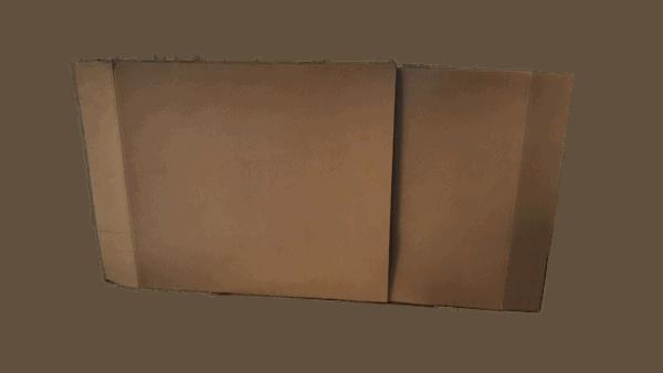 carton miroir télescopique déménagement